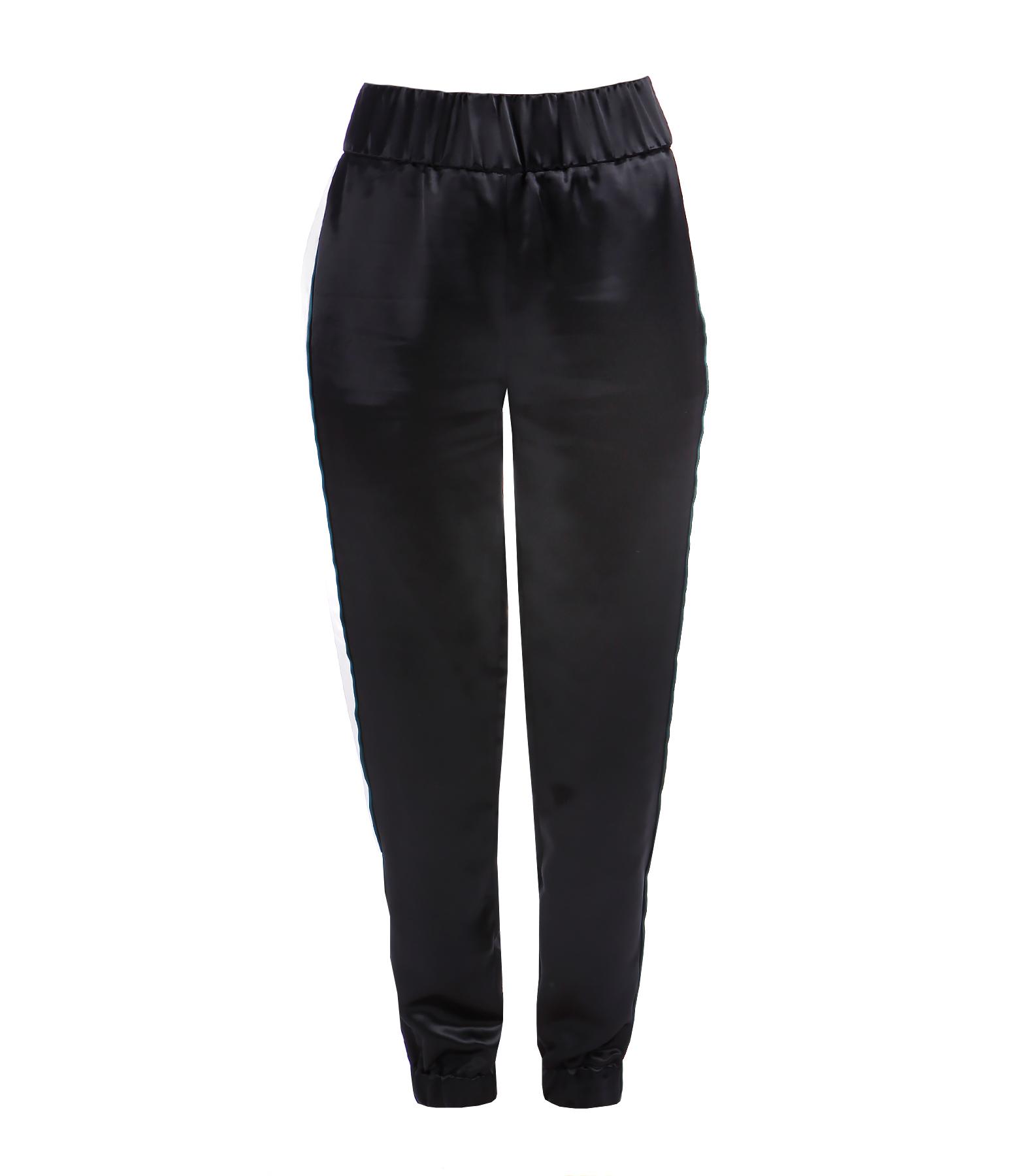 Pantalon Jogging Satiné Noir
