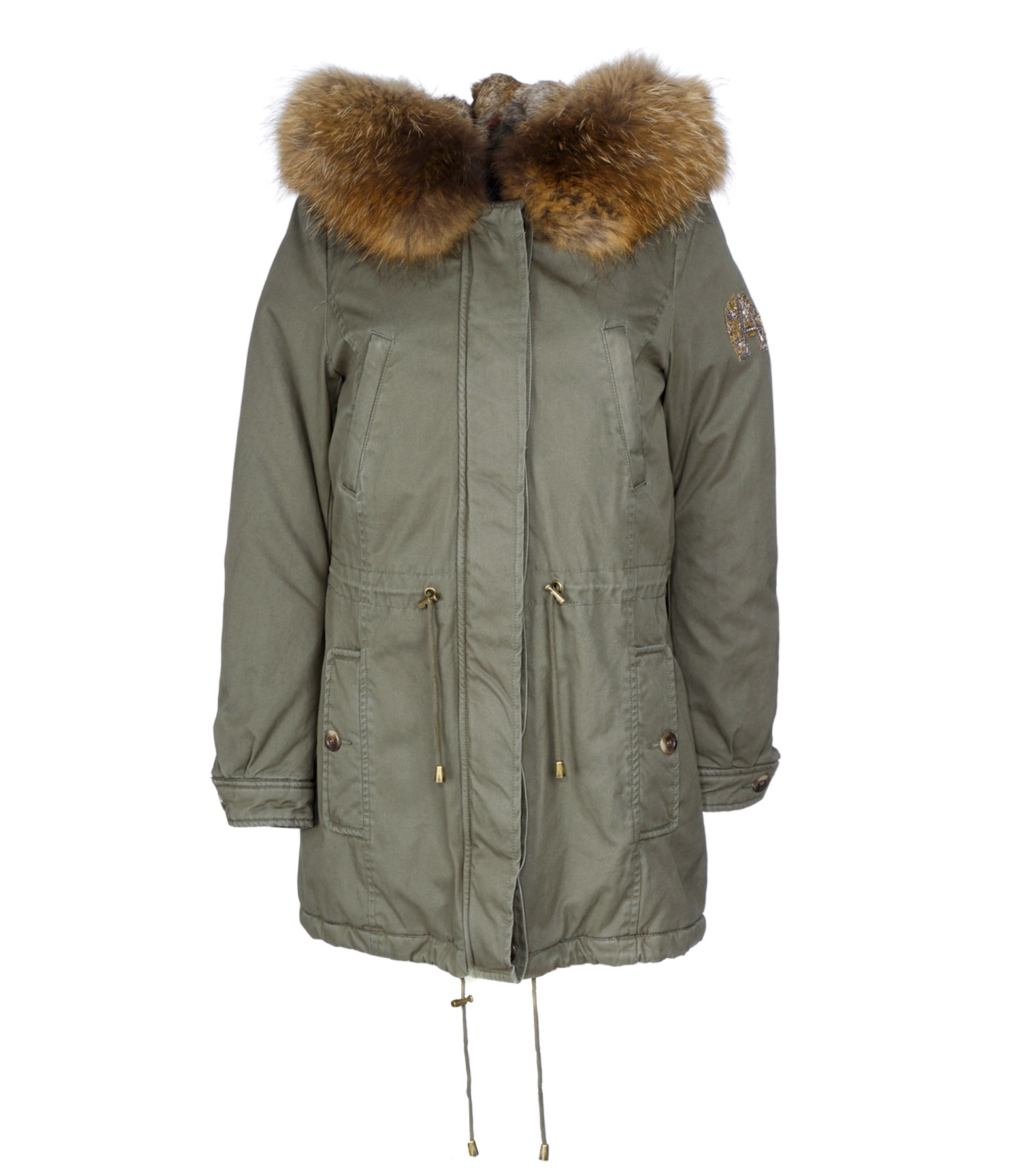 Parka Clementine Lapin Military Natural