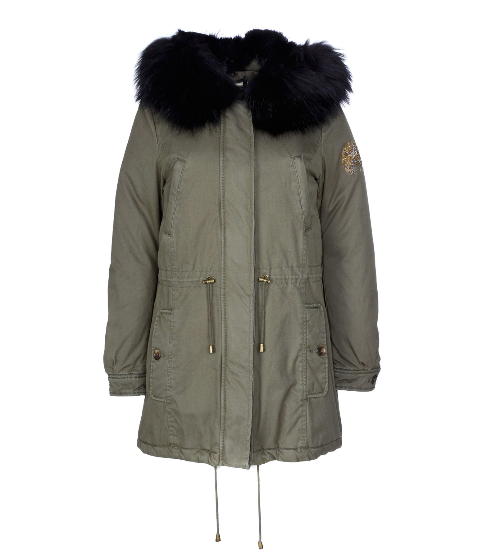 Parka Clementine Lapin Military Black