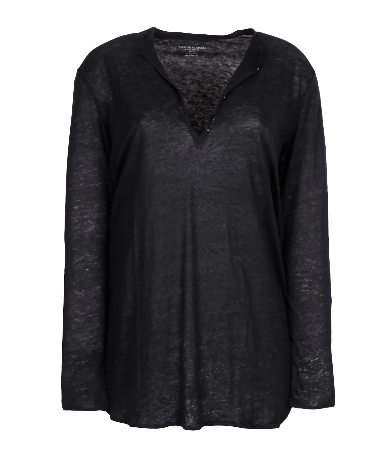 Tee-shirt Tunisien ML Lin Noir