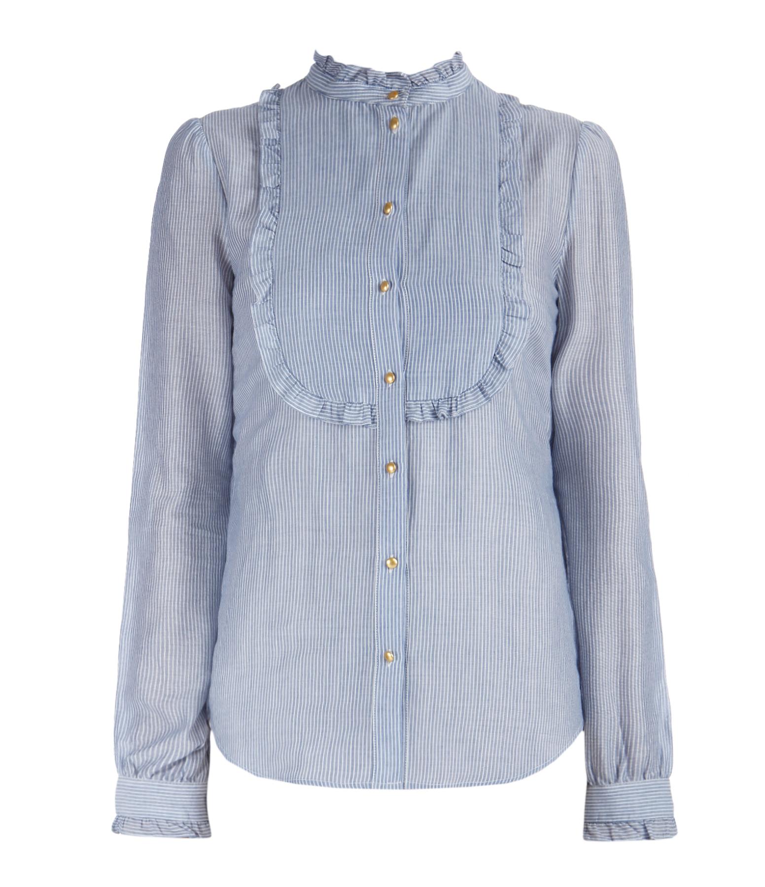 Chemise Engel Coton Bleu