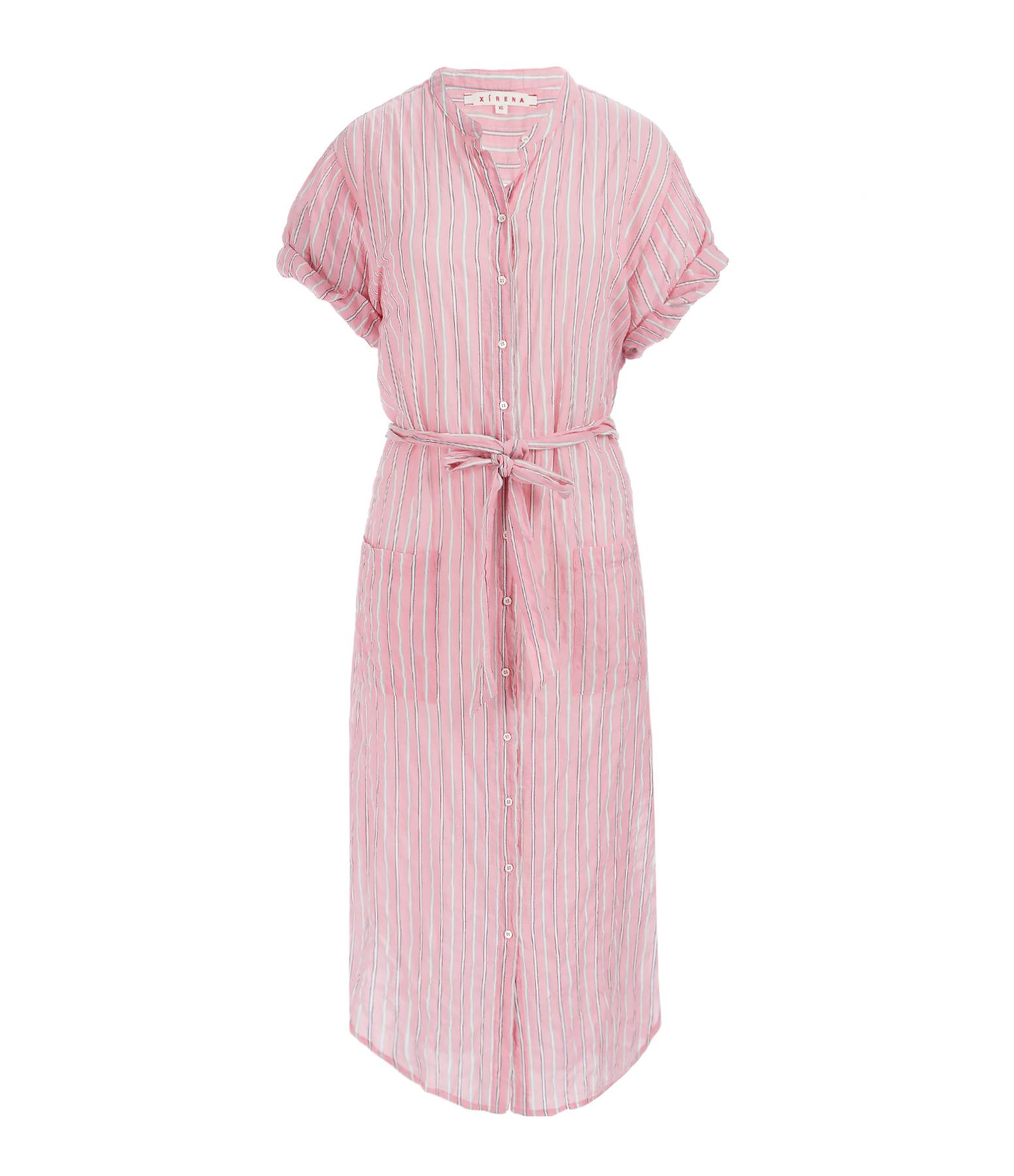 Robe Chemise Mixed Striped Alexa Coton Mayfair