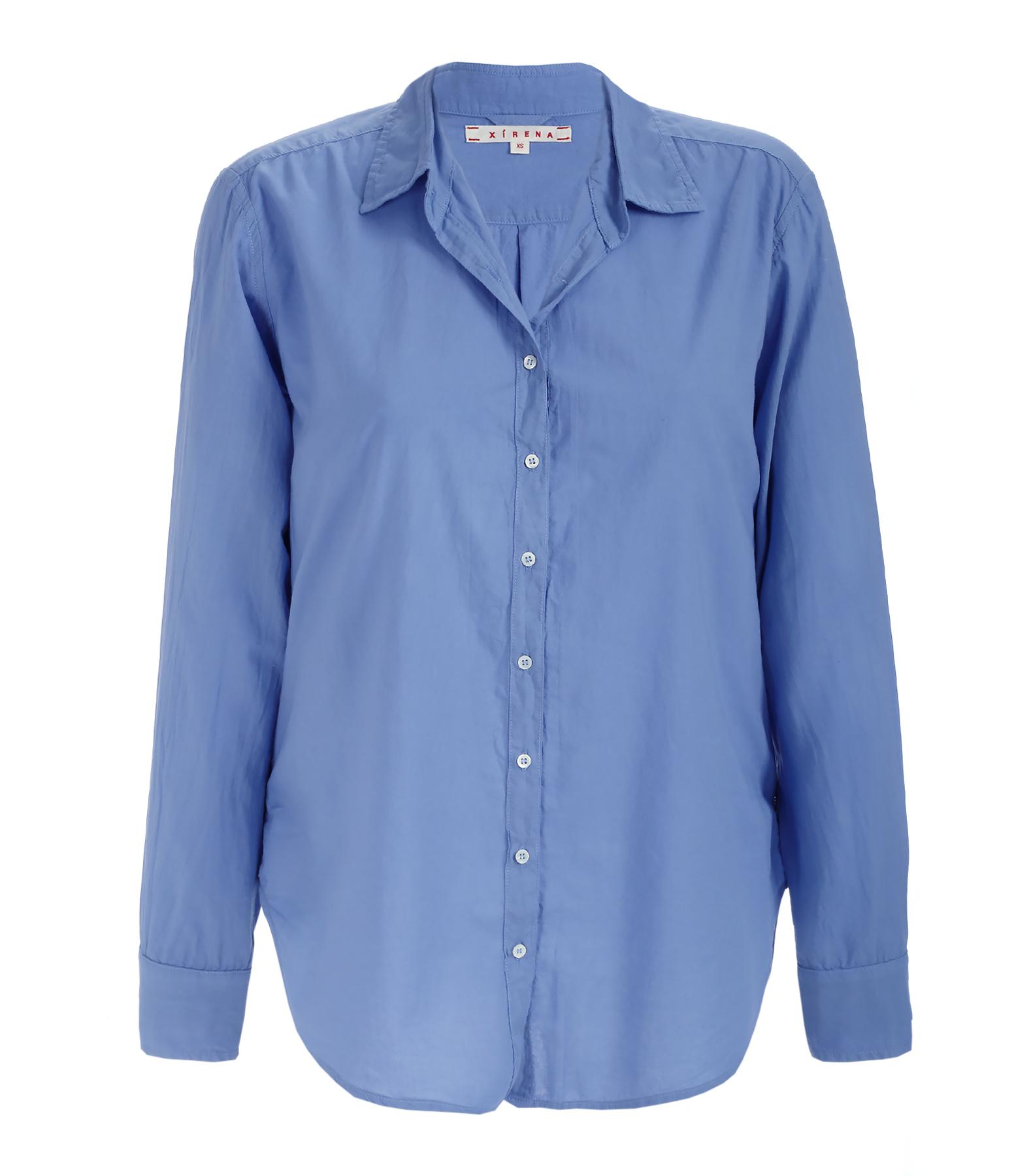 Chemise Cotton Poplin Beau Coton Voyage Bleu