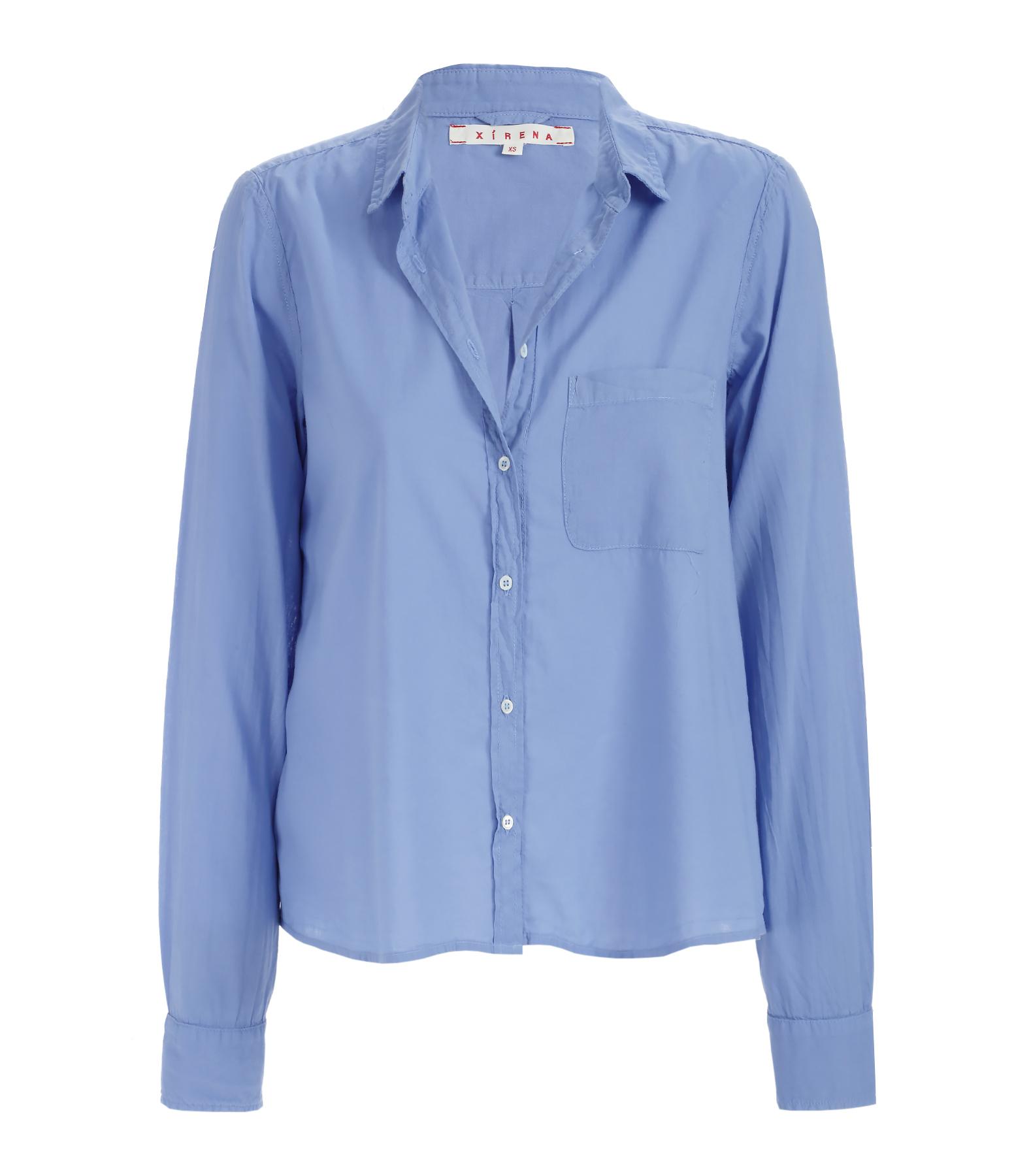 Chemise Cotton Poplin Easton Coton Voyage Bleu