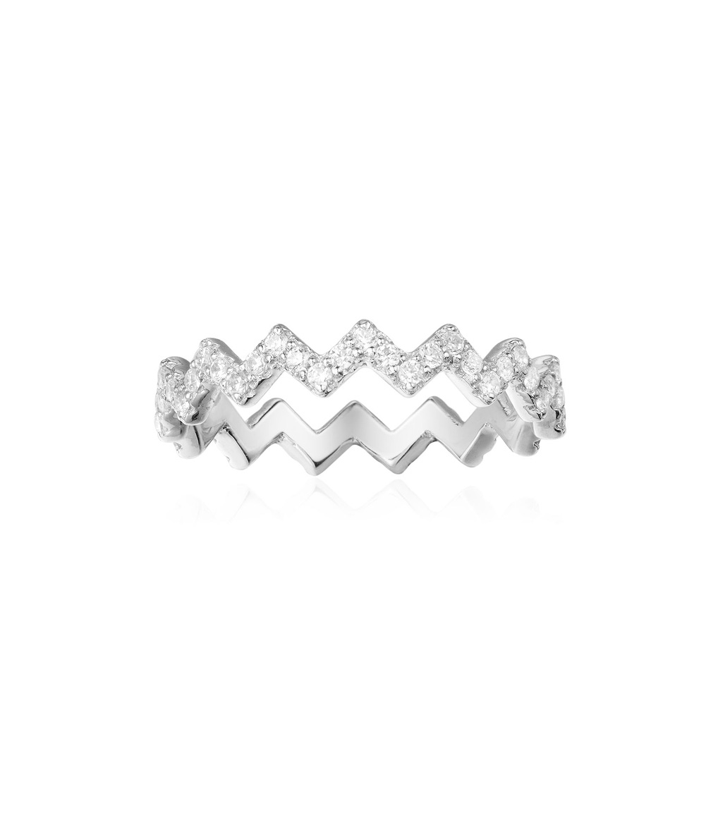Bague Up and Down Argent