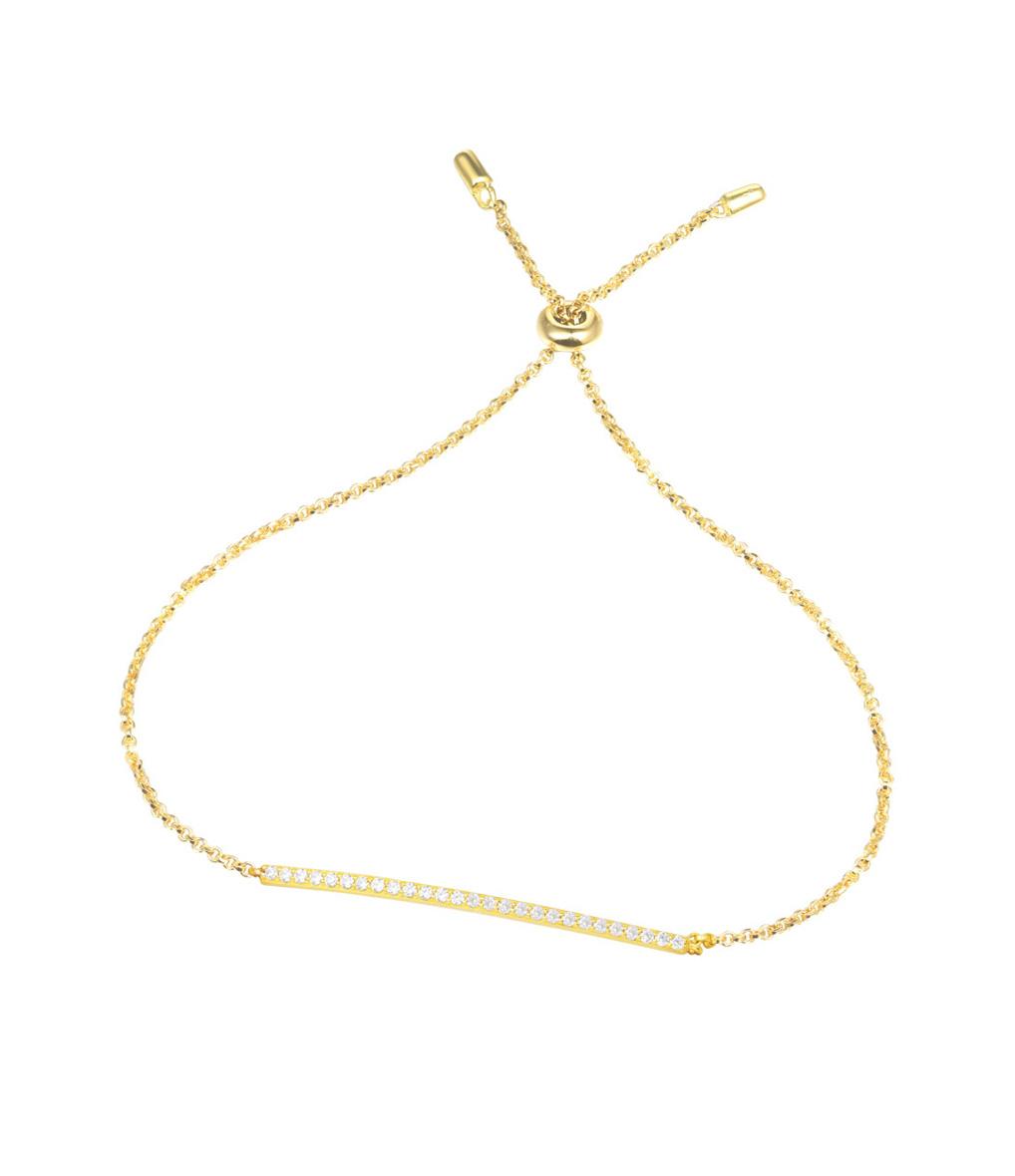 Bracelet Chaîne Promesse Eté Argent jaune