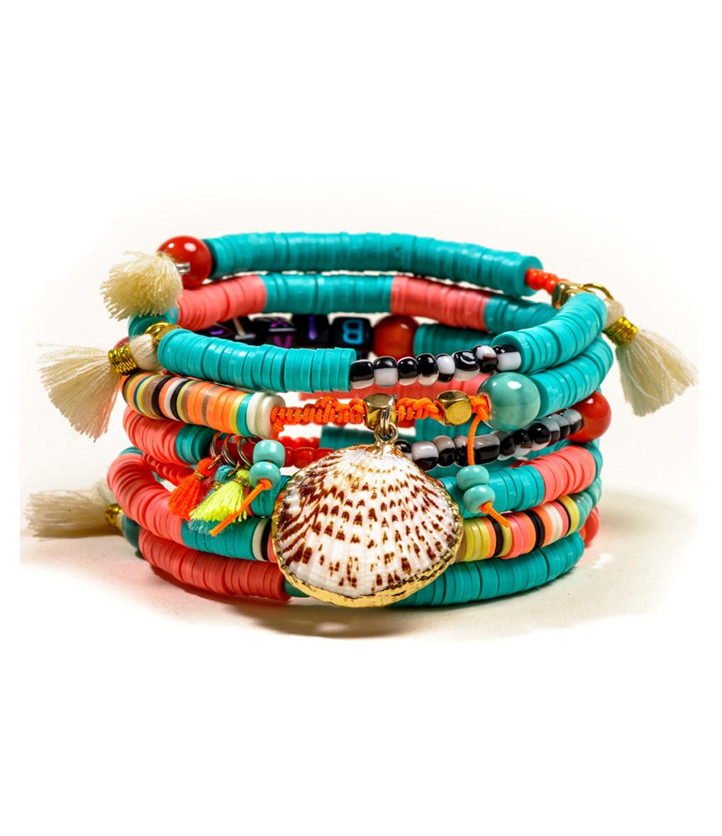 Bracelet Multi Magic Turquoise/ Corail