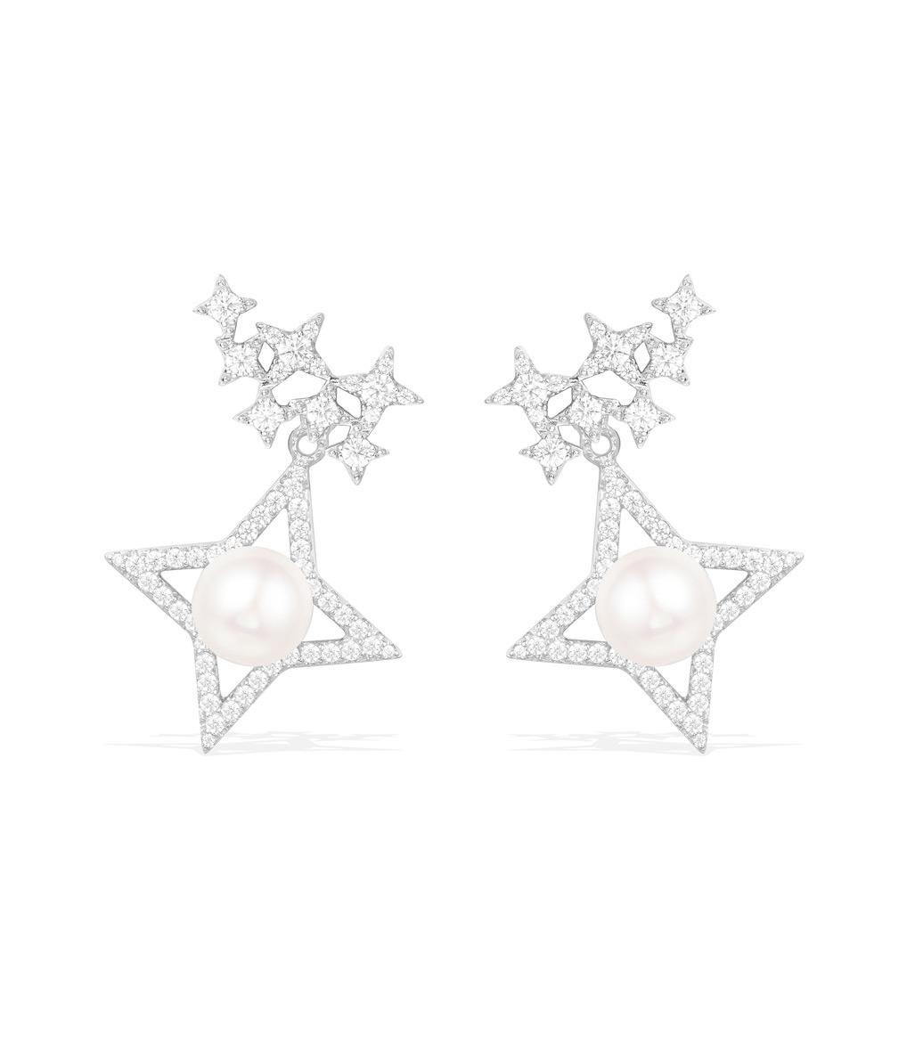 Boucles d'oreilles Les étoiles Perles