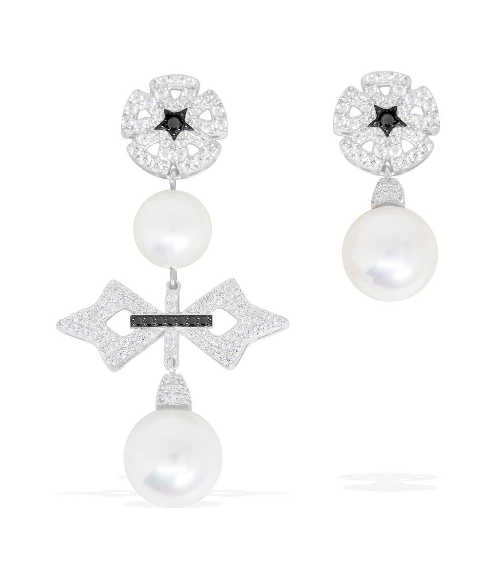 Boucles d'oreilles Perle Asymétrique Maltese