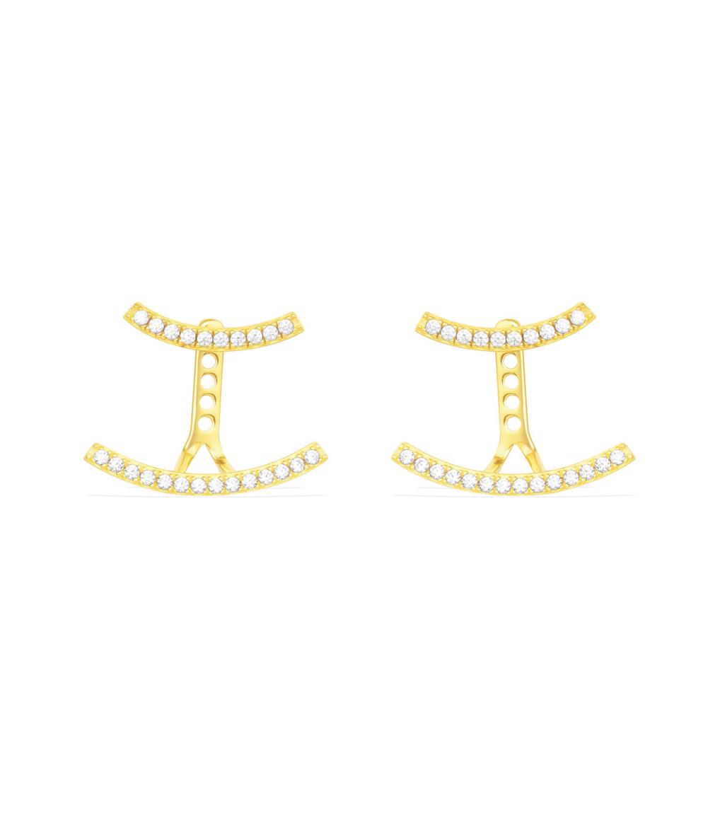 Boucles d'oreilles Promesse Eté Argent jaune