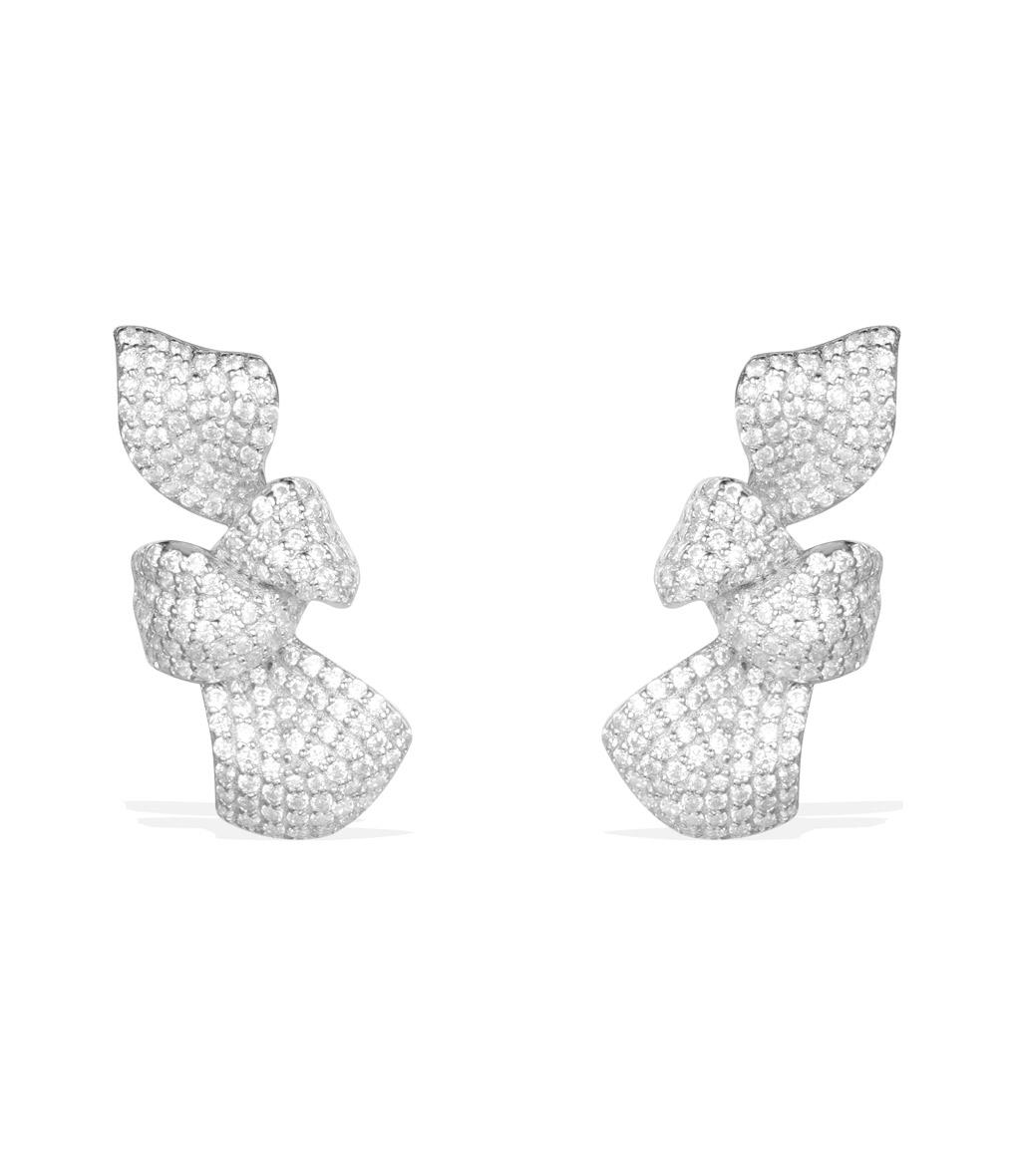 Boucles d'oreilles Puces Rubans de Noël MM