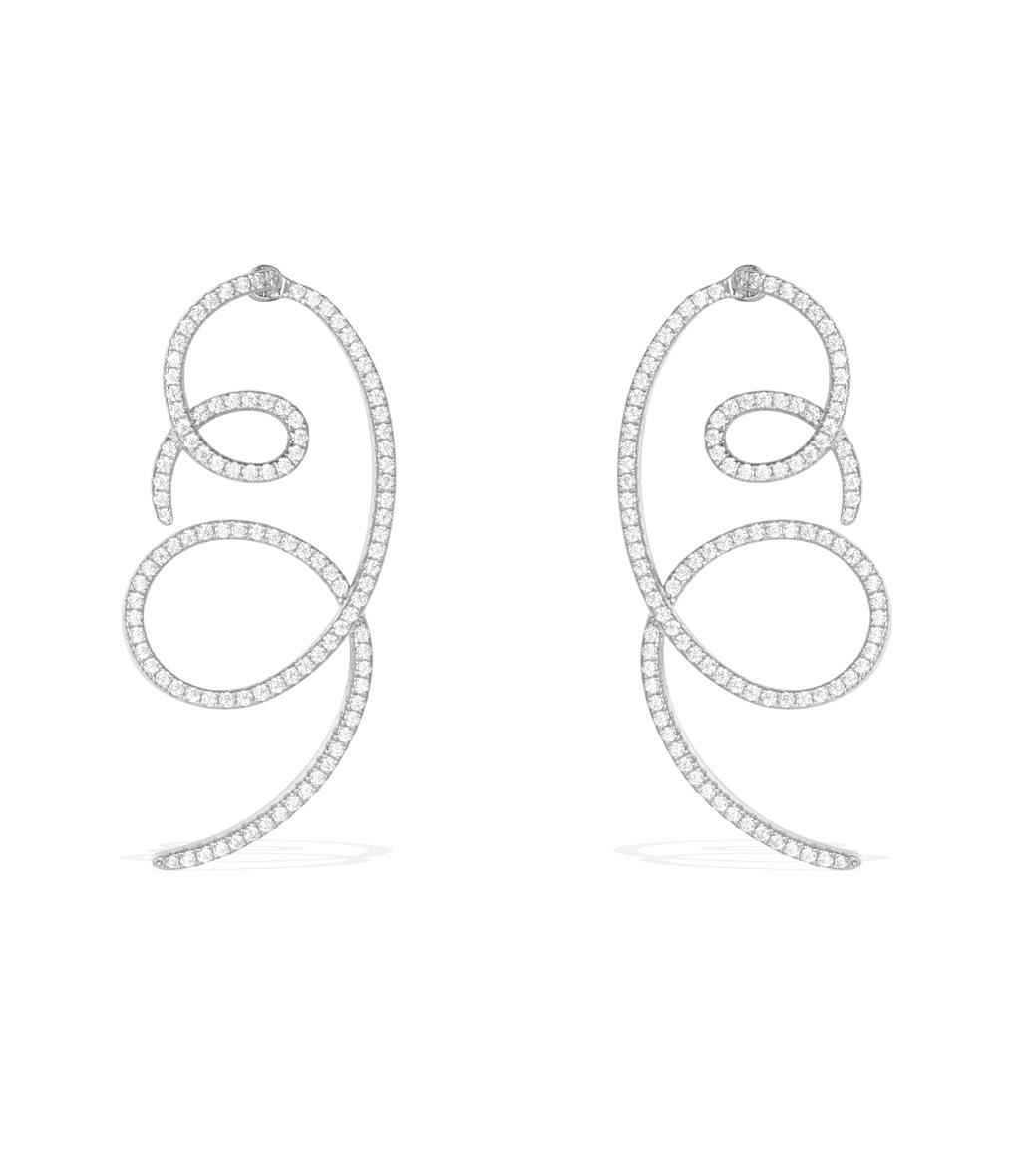 Boucles d'oreilles Doubles Capsule Denim by Caroline Receveur
