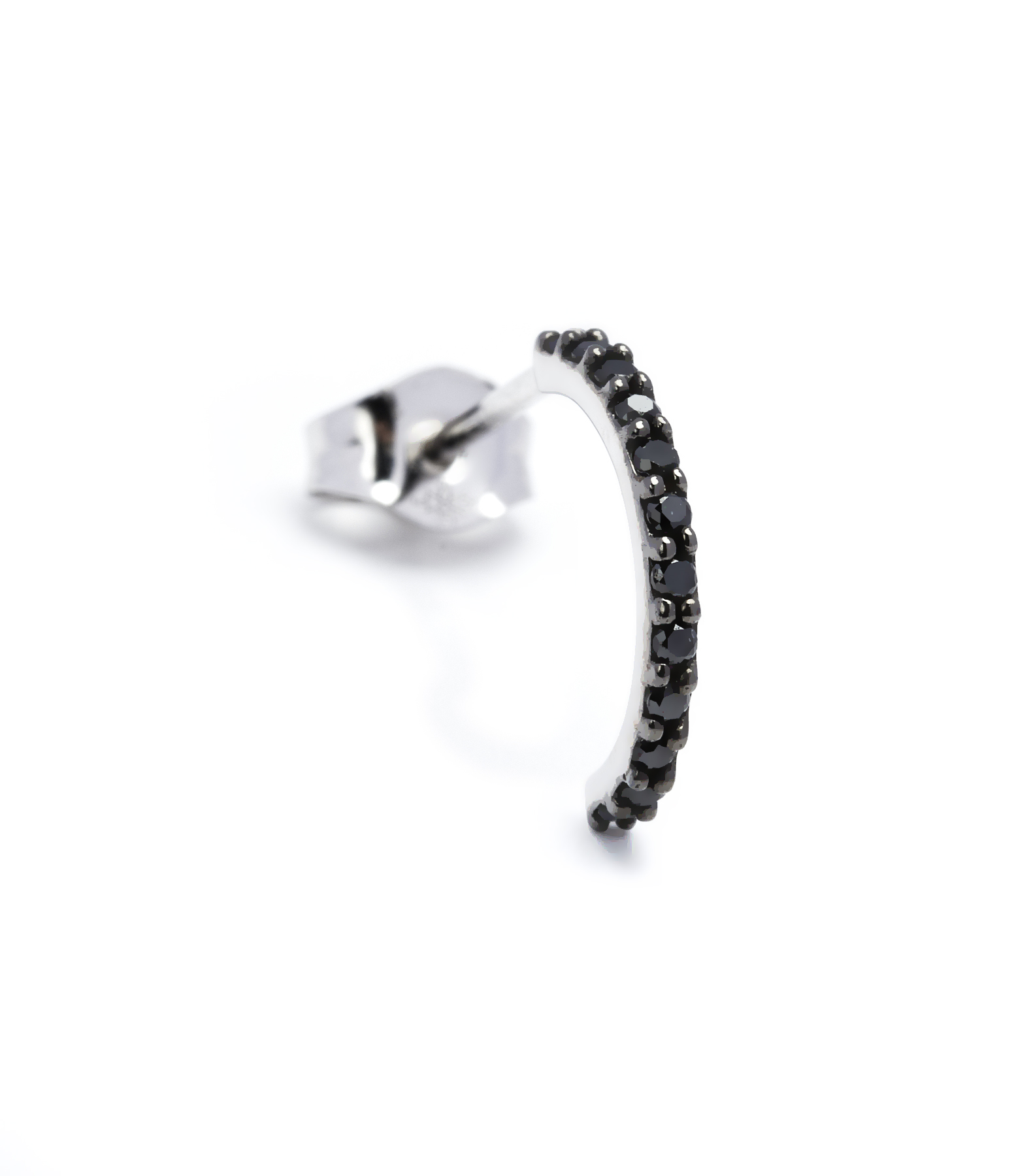 Mini Créole Alliance 18K Diamants noirs (vendue à l'unité)
