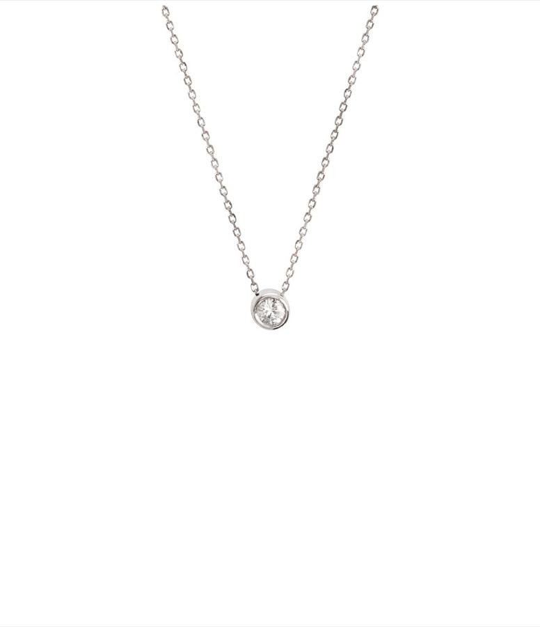 Collier Diamants Serti 18K