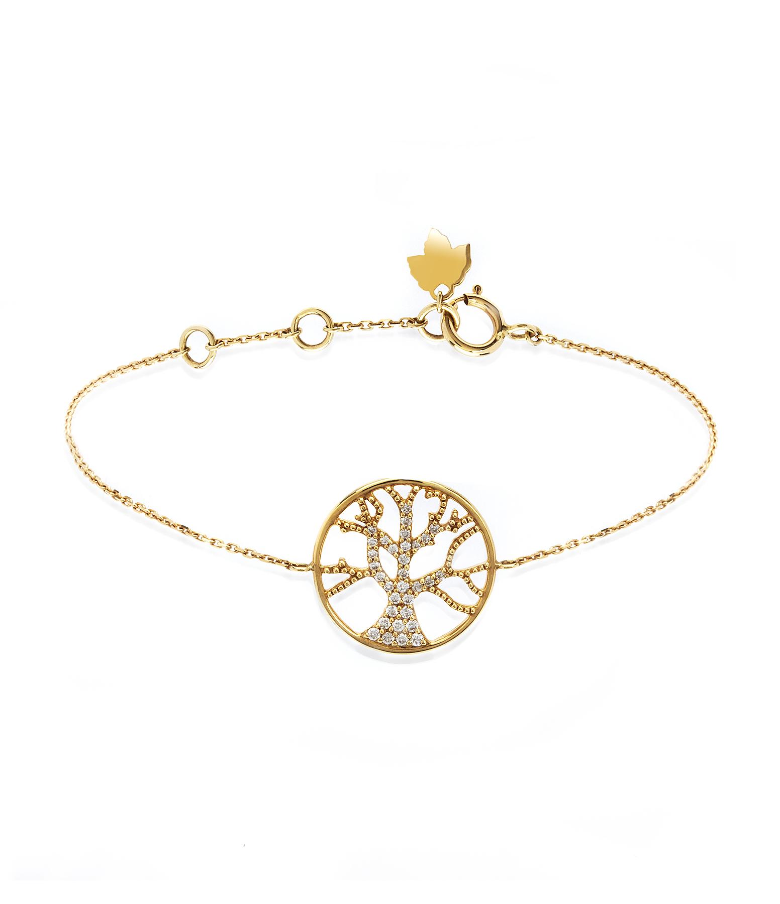 Bracelet Arbre de Vie Diamants 18K