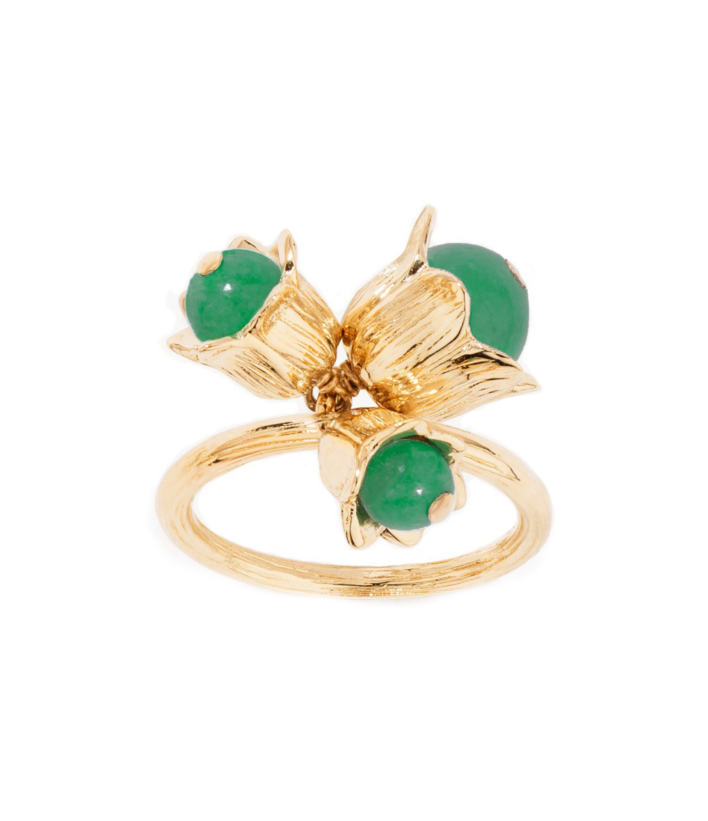 Bague Lily Of The Valley Plaqué Or