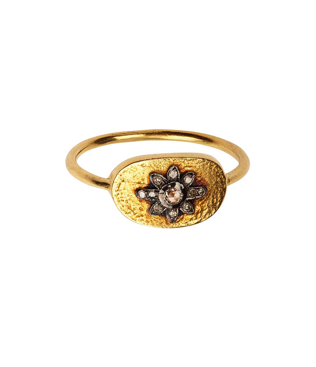 Bague Gypsy Fetiches Nael Diamants Argent