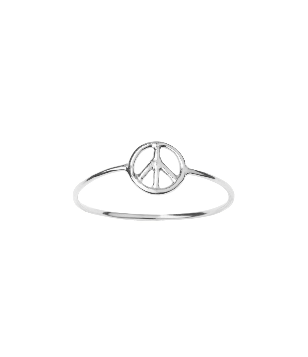 Bague Mini Charms Peace Silver