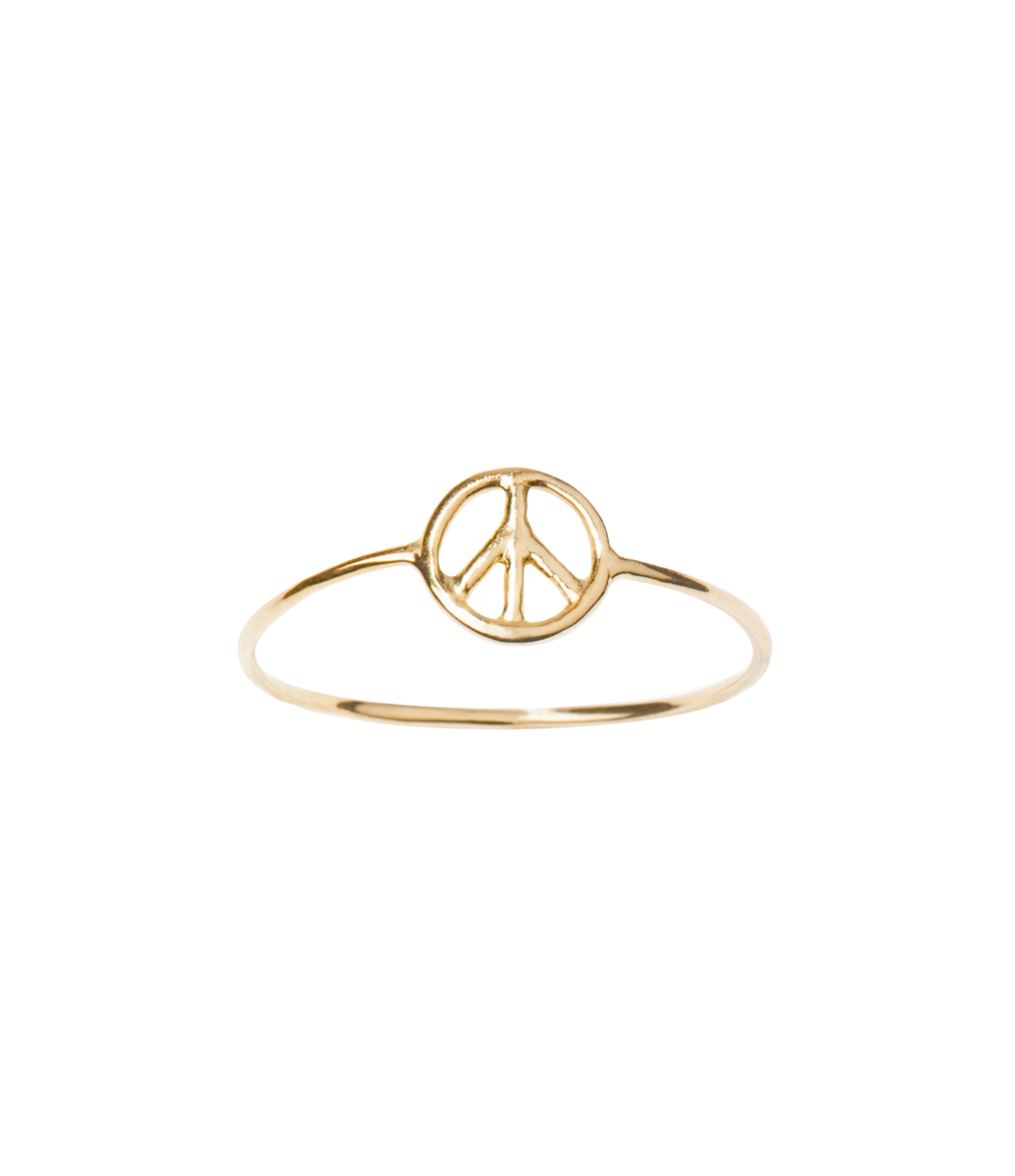 Bague Mini Charms Peace Gold