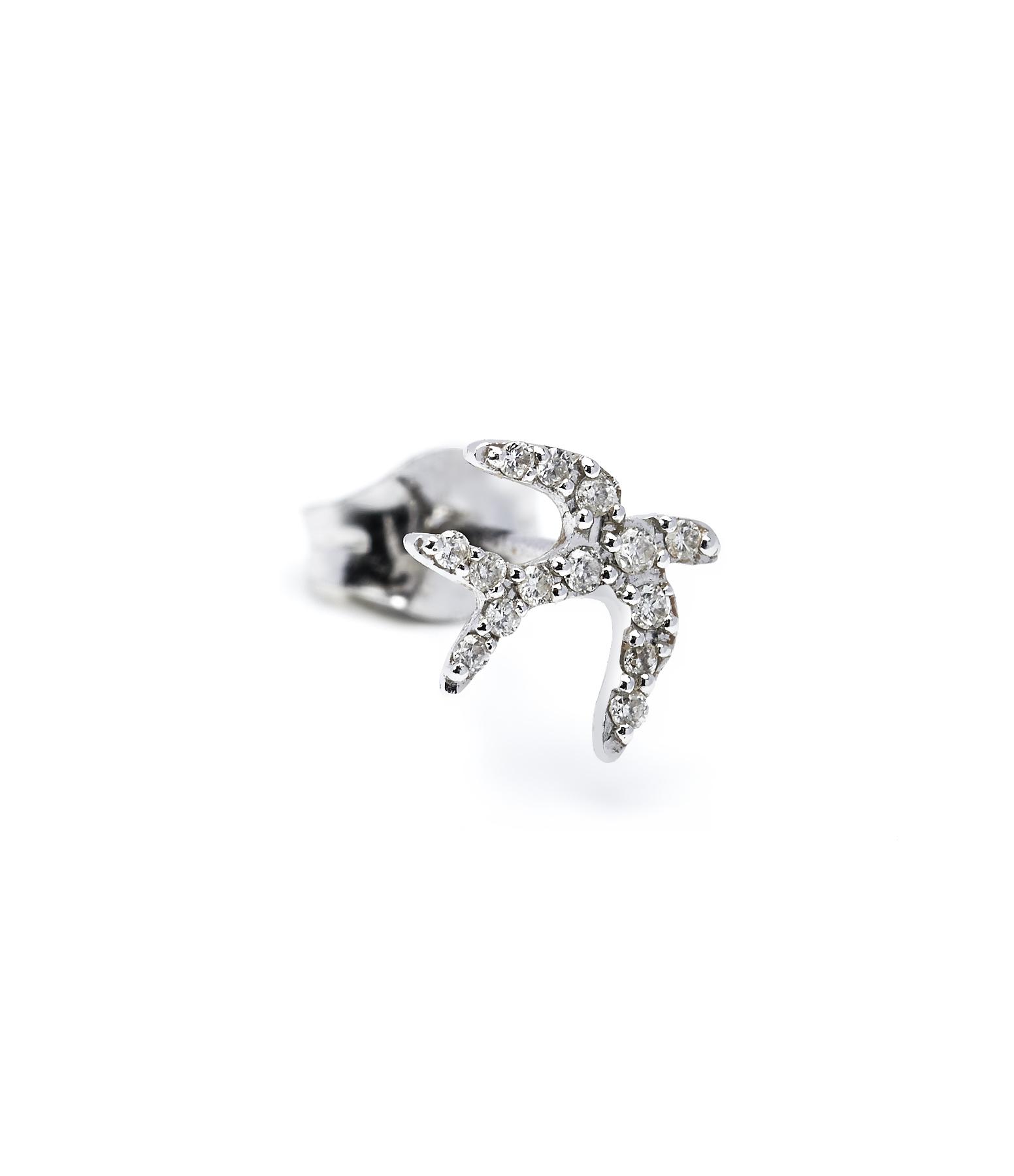 Boucle d'oreille Three Birds Diamants 18K (vendue à l'unité)