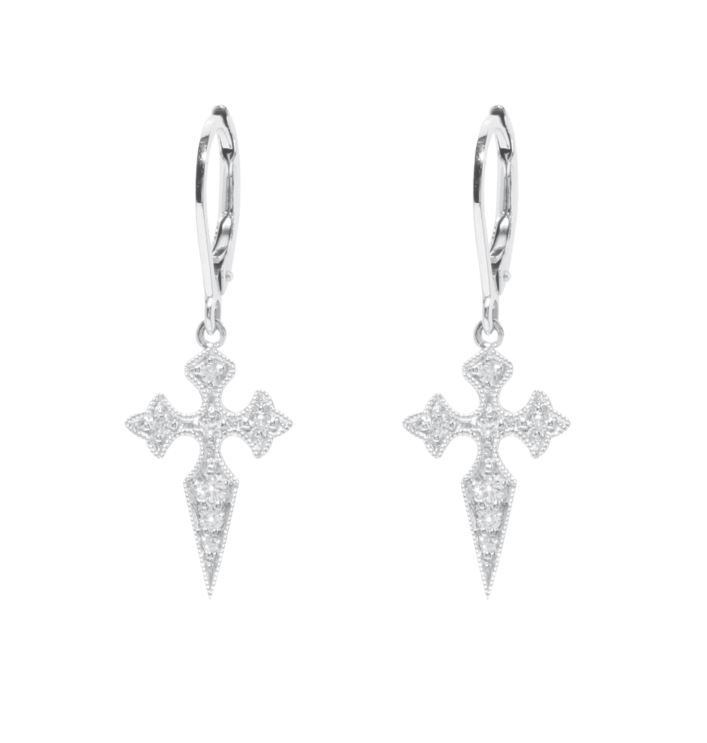 Boucles d'oreilles Dormeuses Blood Diamond