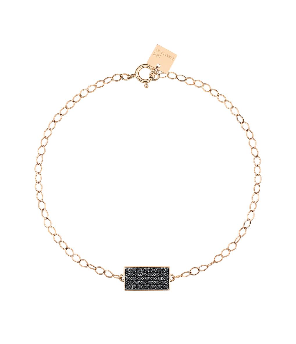 Bracelet Mini Ever Rectangle Diamants Noir