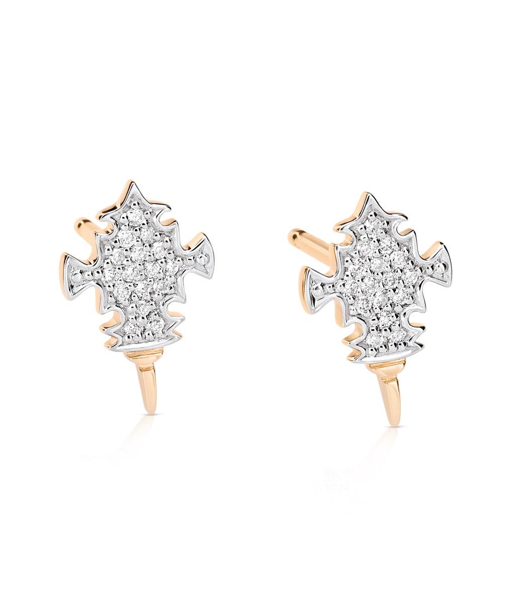 Boucles d'oreilles Tanger Studs Or Diamants