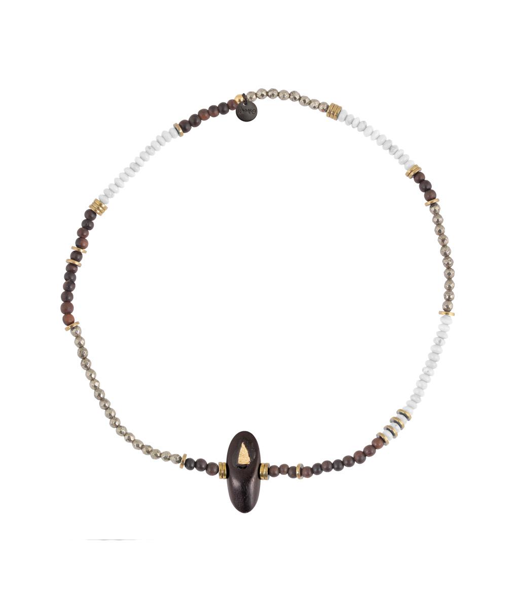 Bracelet Bois Perle Long Blanc
