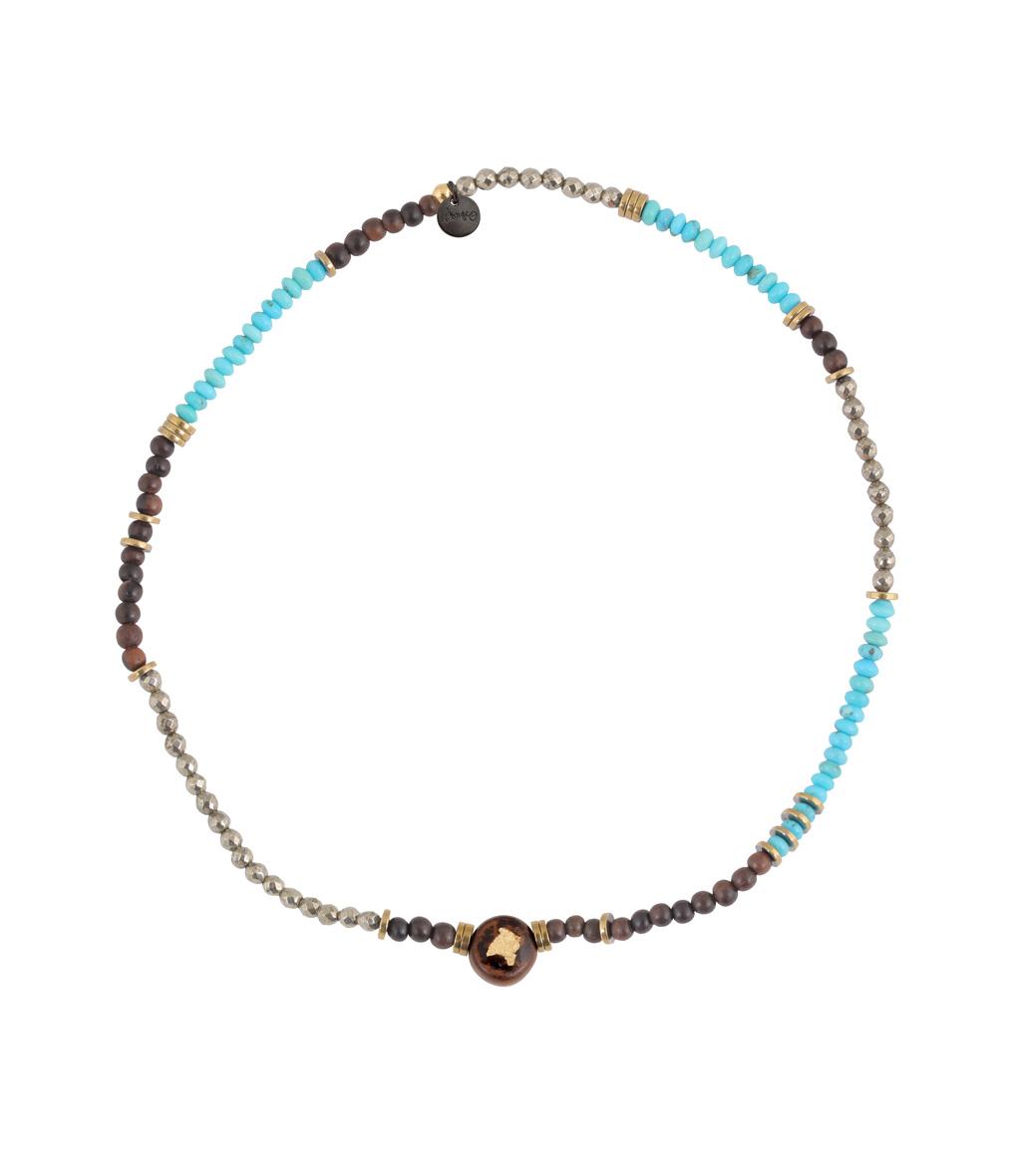 Bracelet Bois Perle Mini Turquoise