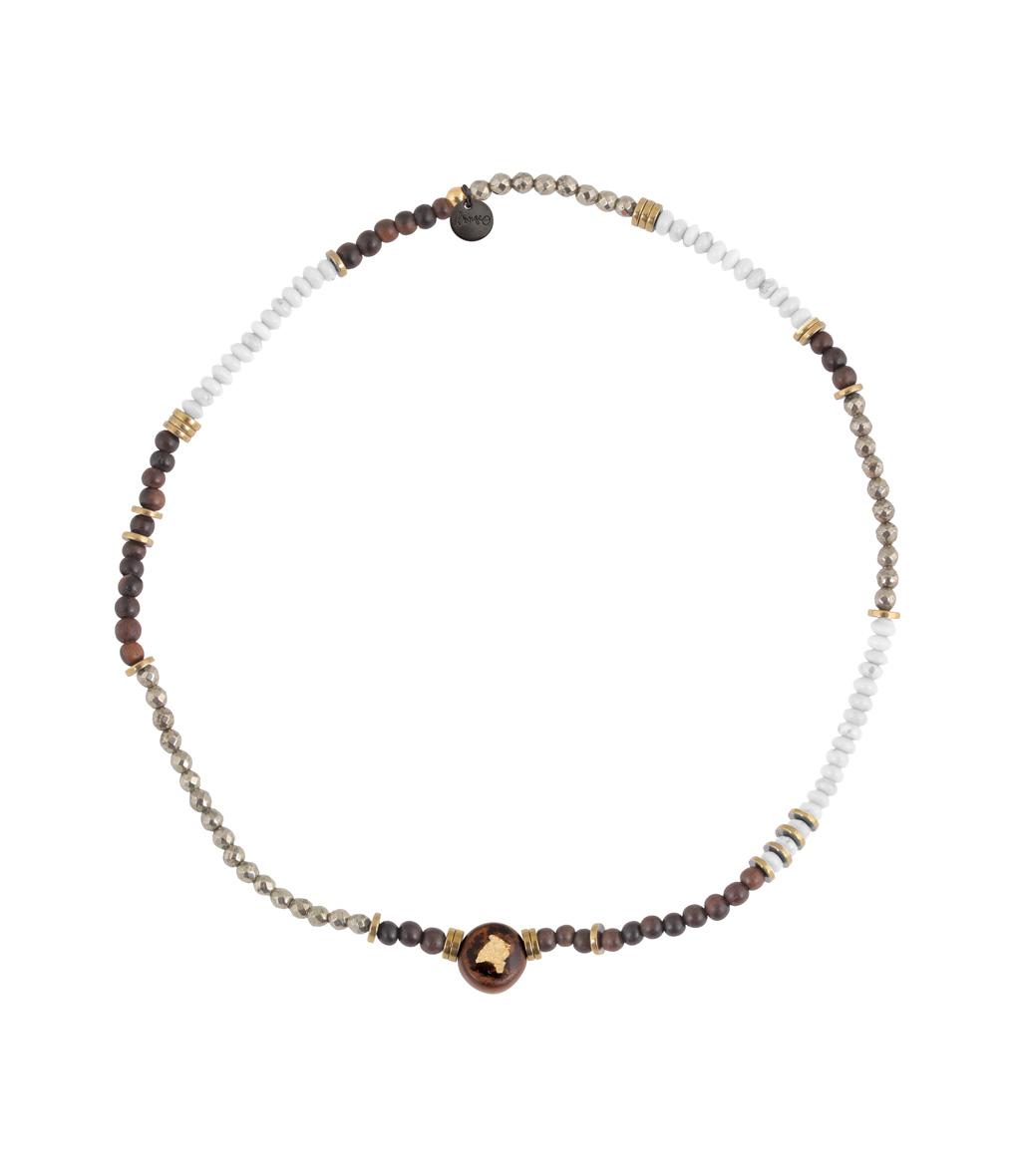 Bracelet Bois Perle Mini Blanc