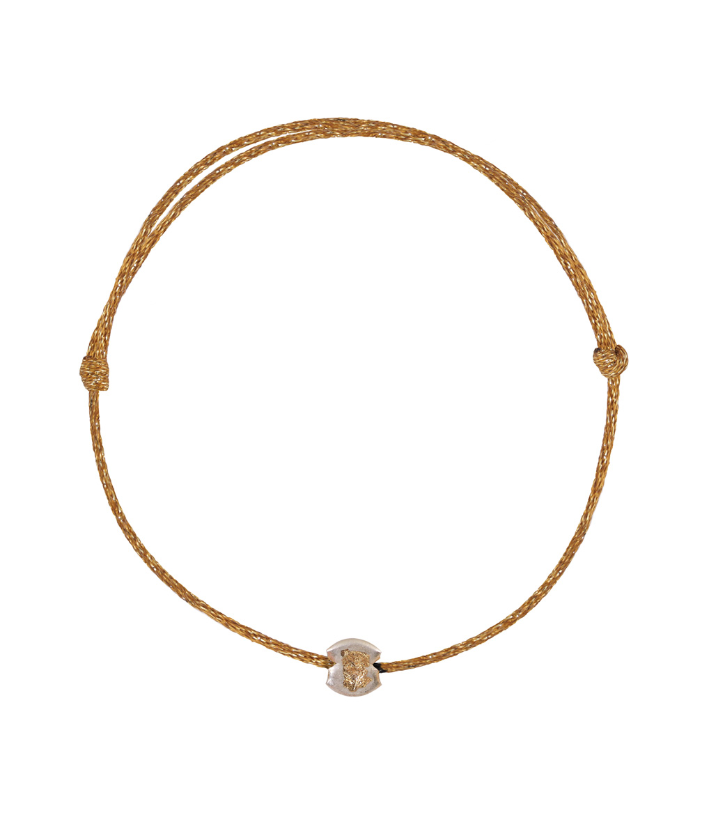 Bracelet Cordon Lurex Religion Pepite