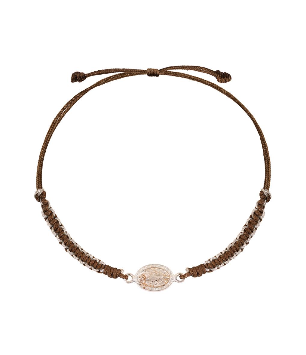 Bracelet Cordon Religion Makramé Madone