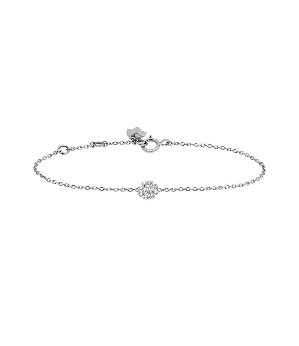 Bracelet Eternel Trèfle Pavé 18K