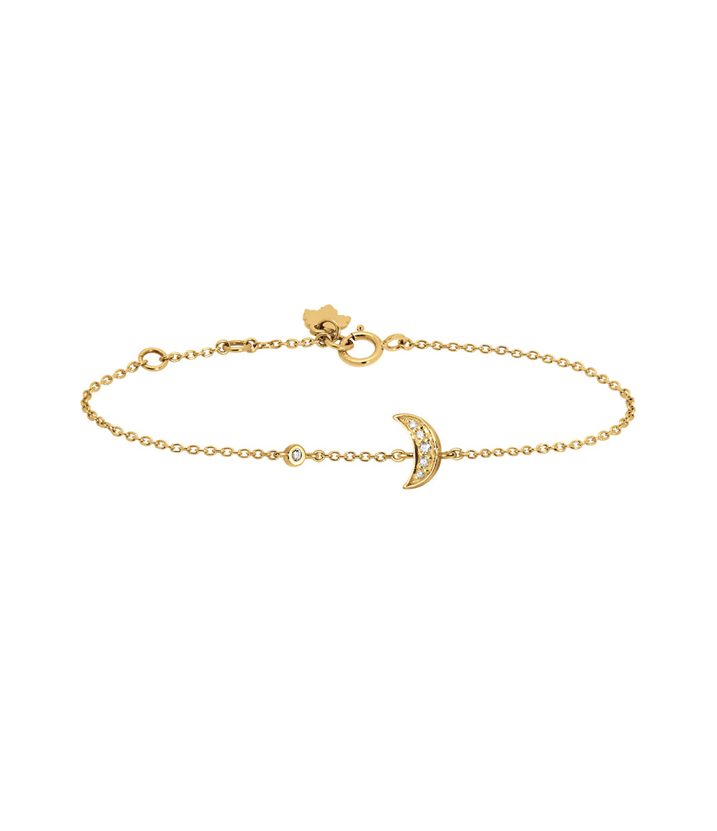 Bracelet Eternel Lune Diamants 18K