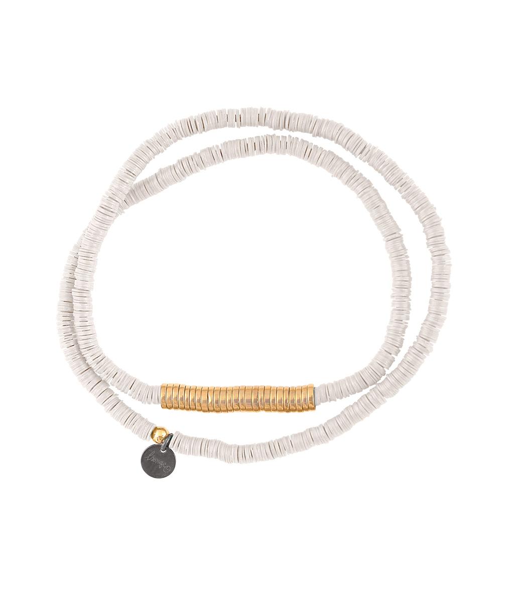 Bracelet Homme Zannot Long Blanc / Doré