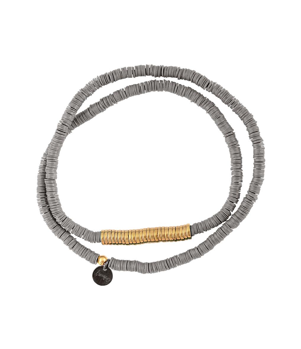 Bracelet Homme Zannot Long Gris/ Doré