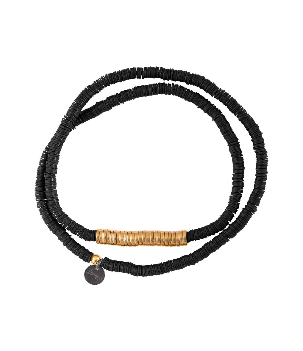 Bracelet Homme Zannot Long Noir/ Doré