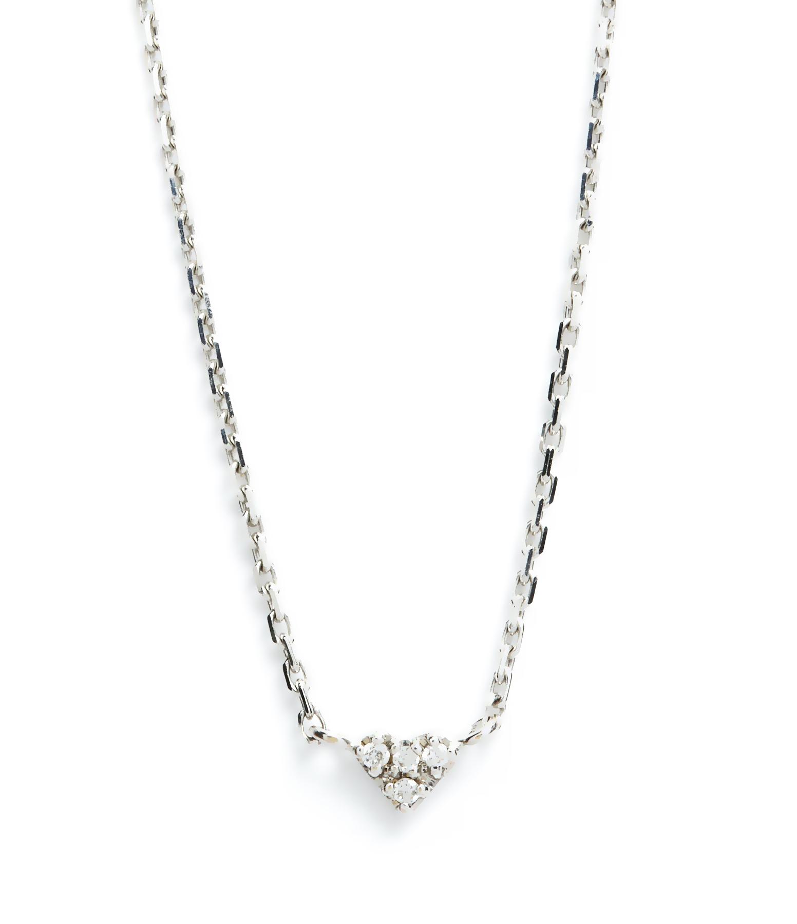 Collier Mini Coeur 18K Diamants blancs