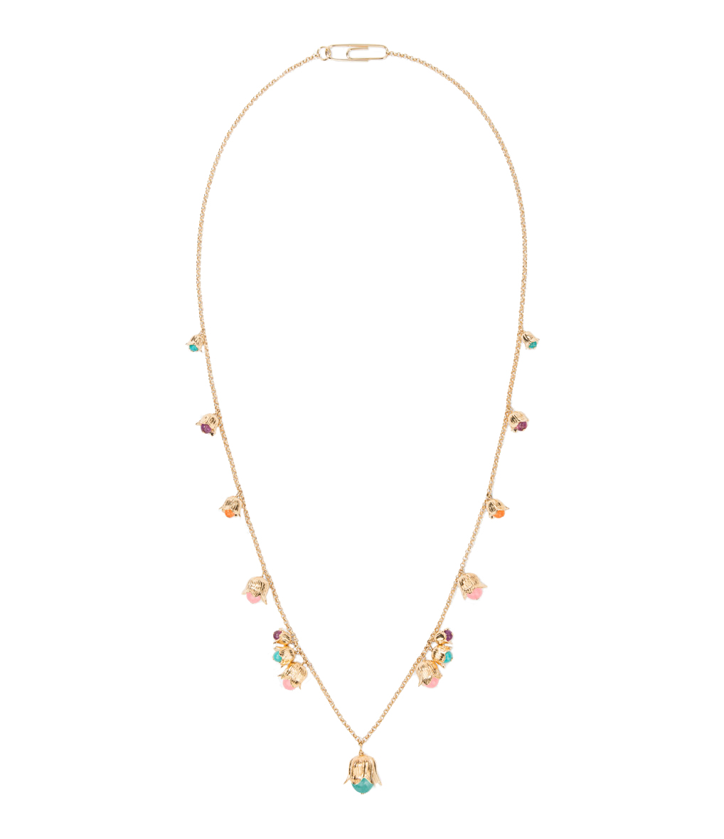 Collier Lily Of The Valley Plaqué Or