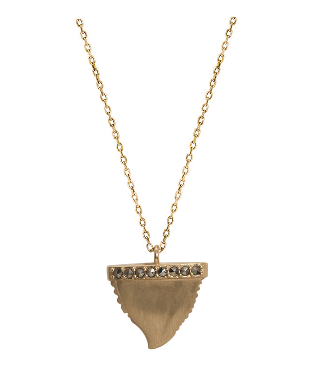 Collier Indian Dent Requin 9K