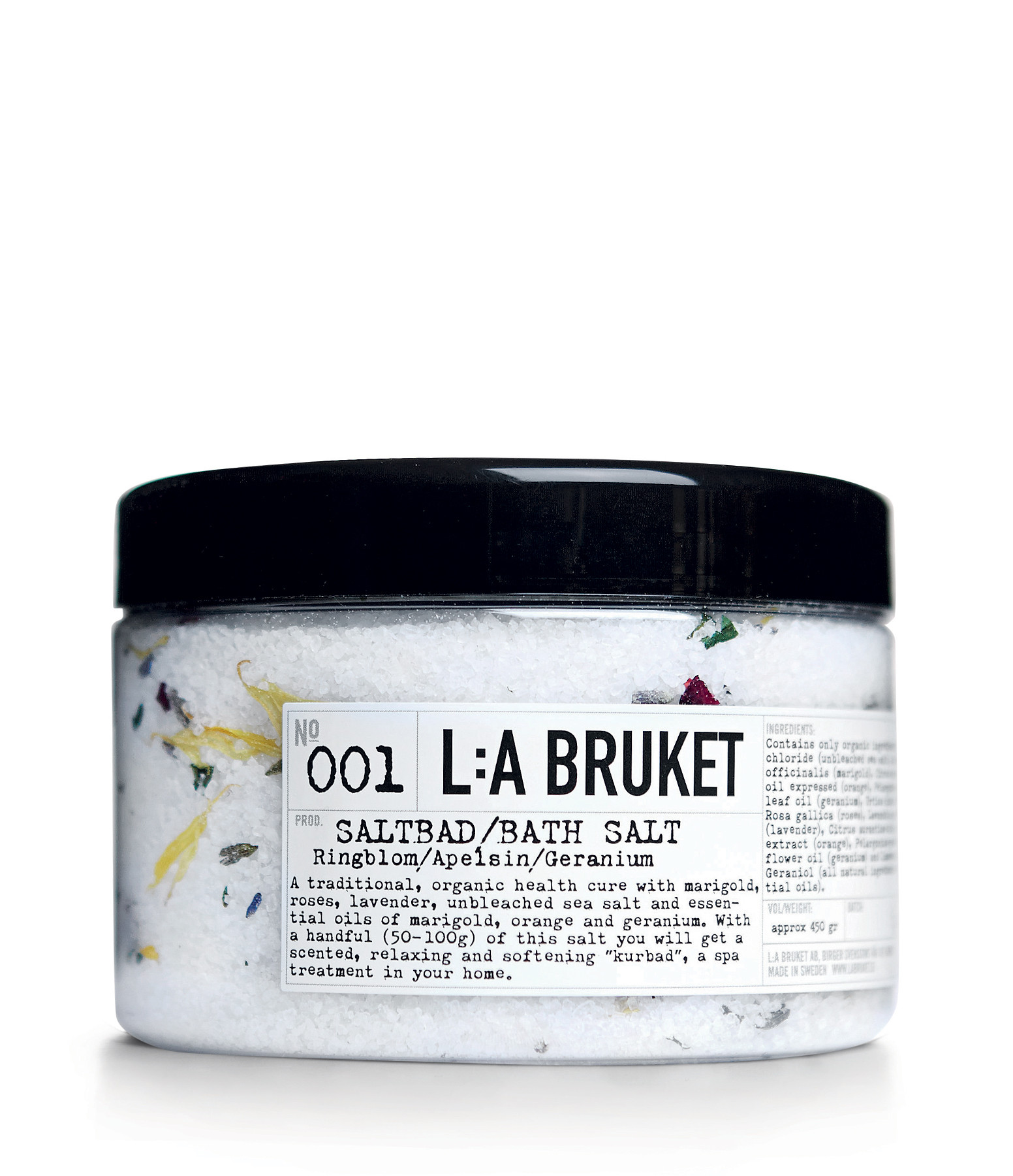 L:A BRUKET - Sels de Bain Calendula Orange Geranium 450g N°001