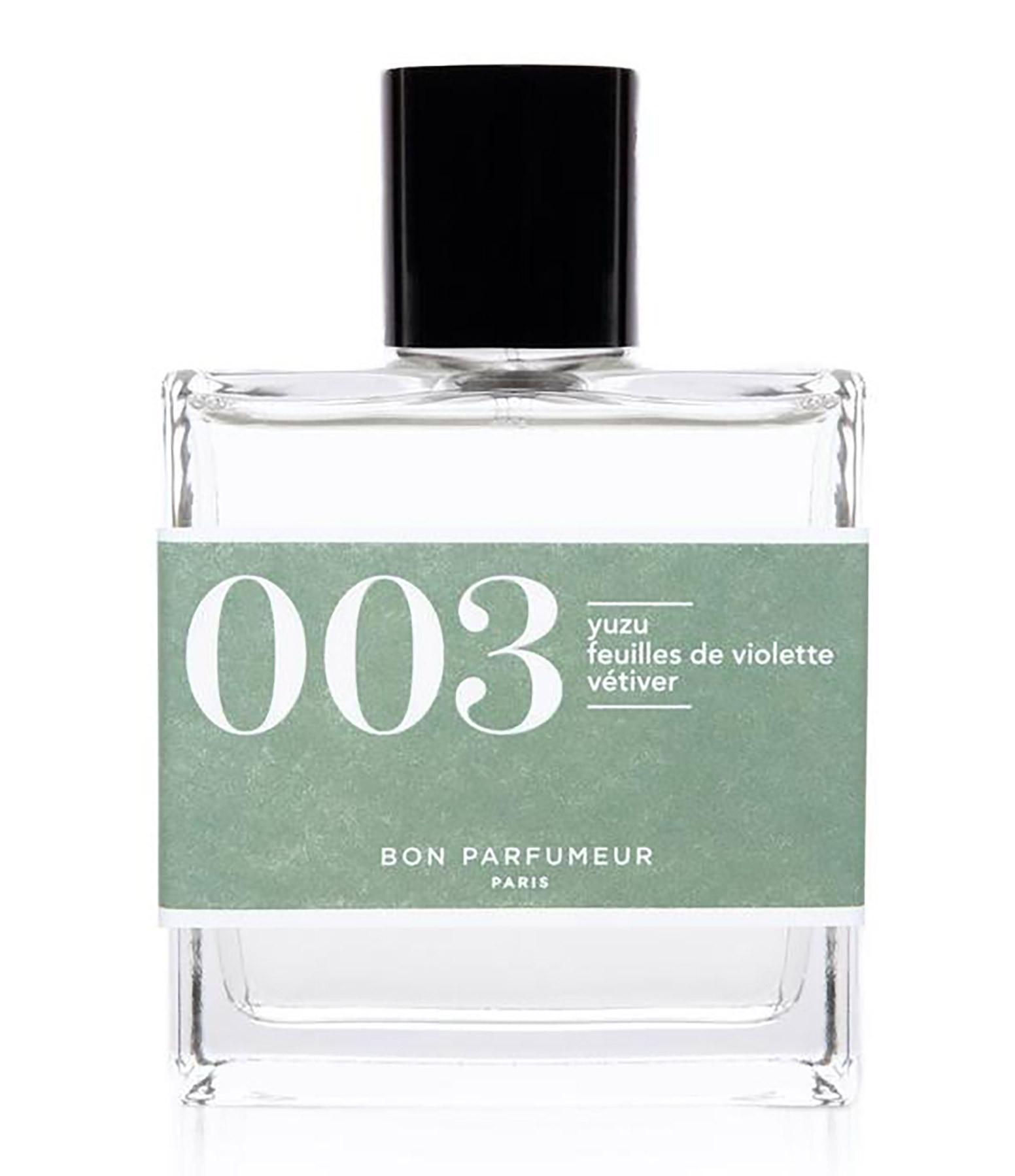 BON PARFUMEUR - Eau de Parfum #003 Yuzu, Feuilles de violette, Vétiver, 100 ml