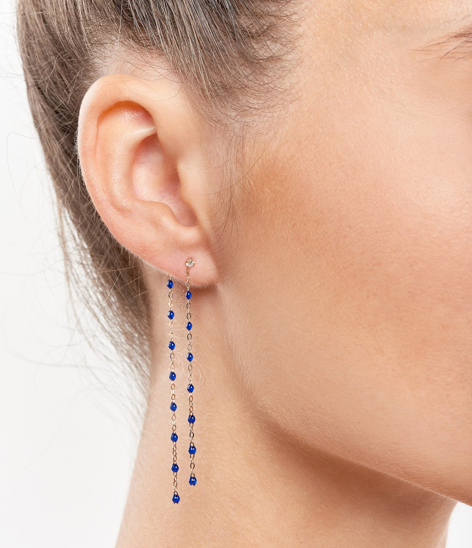 GIGI CLOZEAU - Boucles d'oreilles Pendantes Perles Résine DiamsOG