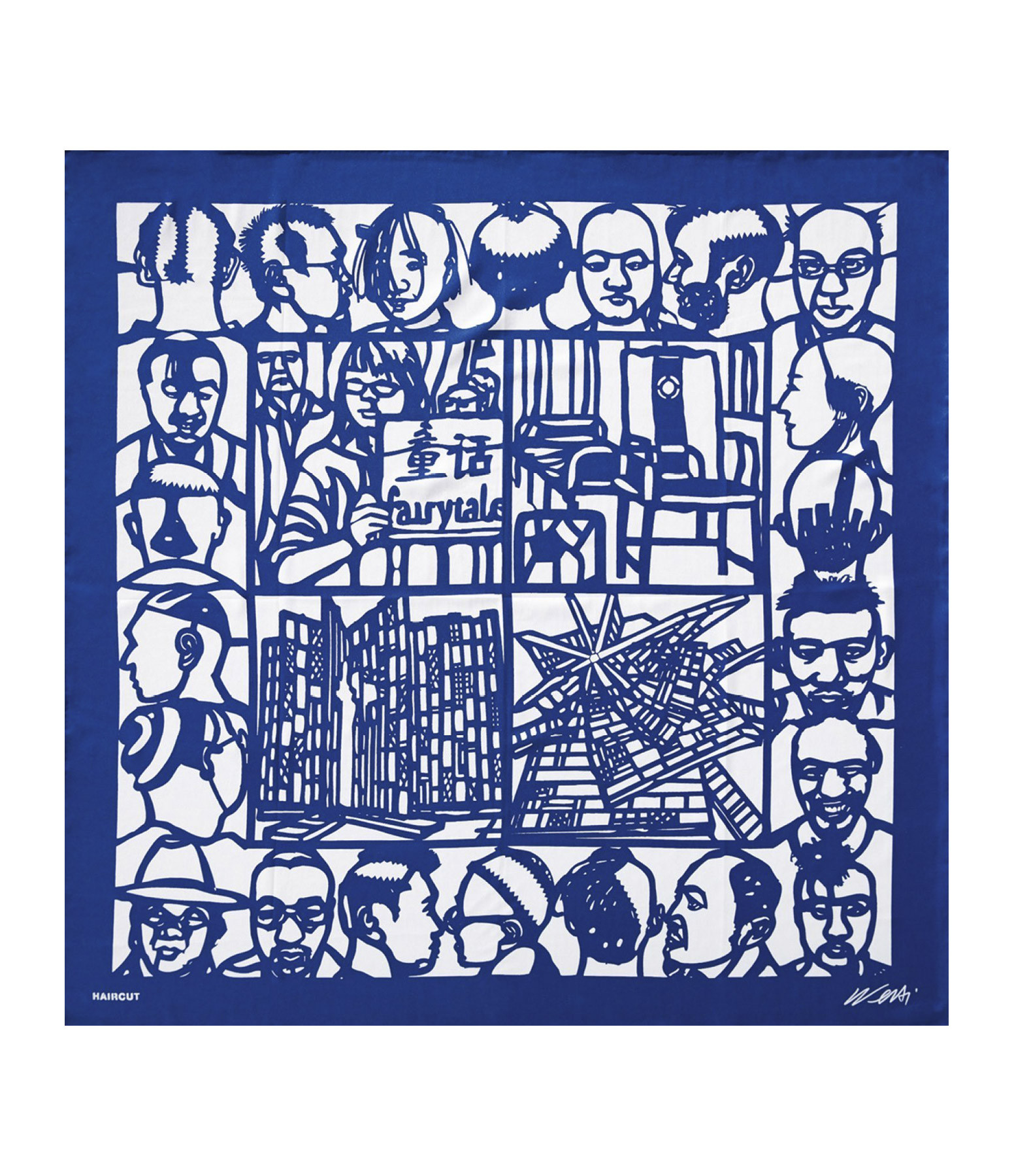 TASCHEN - Foulard Soie Bleu