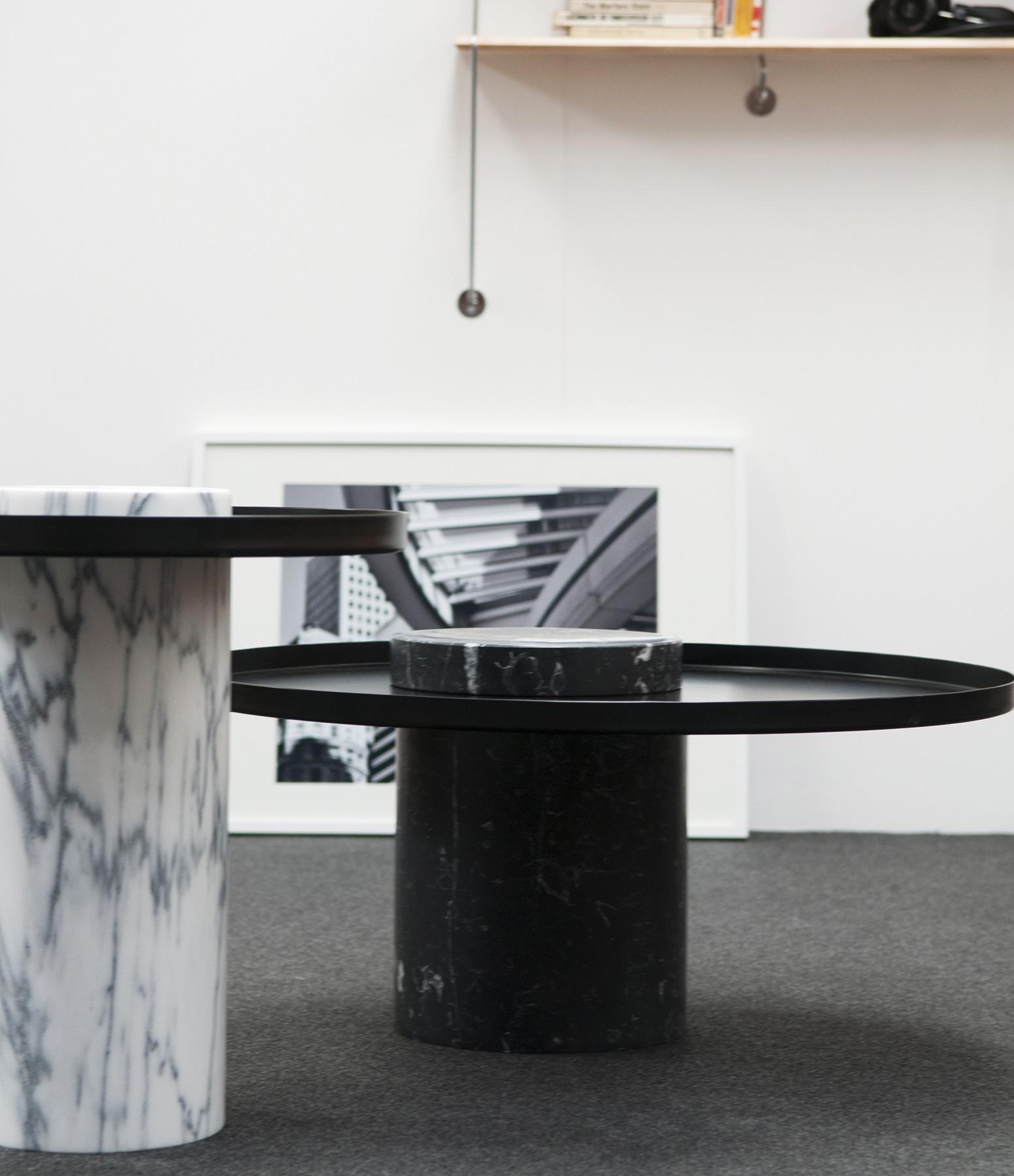 LA CHANCE - Table Salute Marbre Blanc