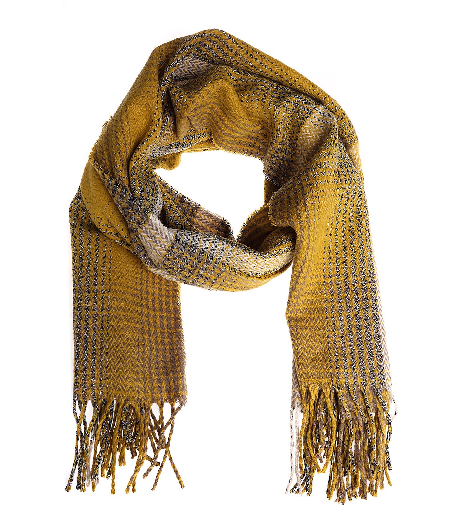 echarpe tricot moutarde/beige - l.a market