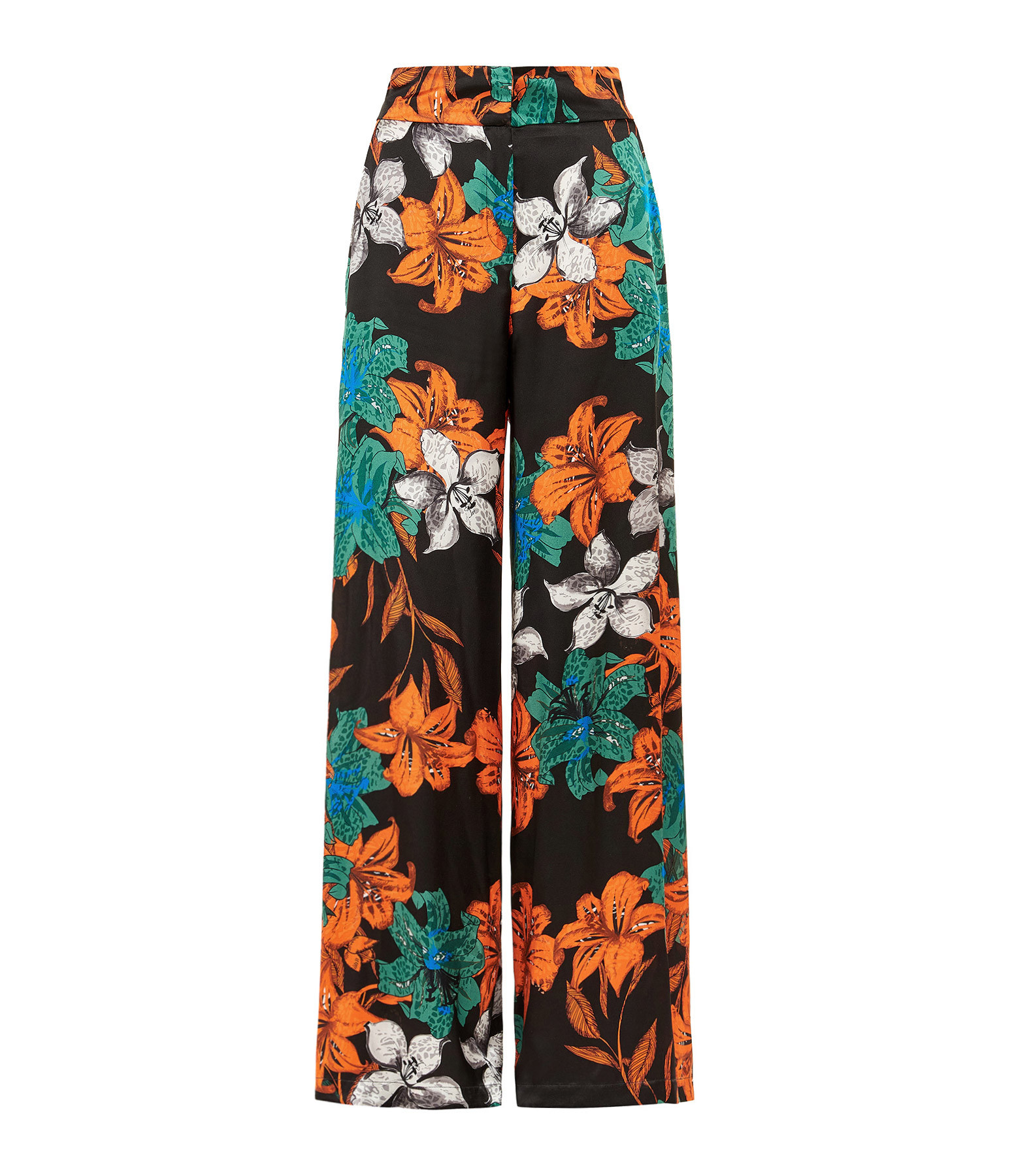 OUD - Pantalon Morgane Soie Imprimé Floral