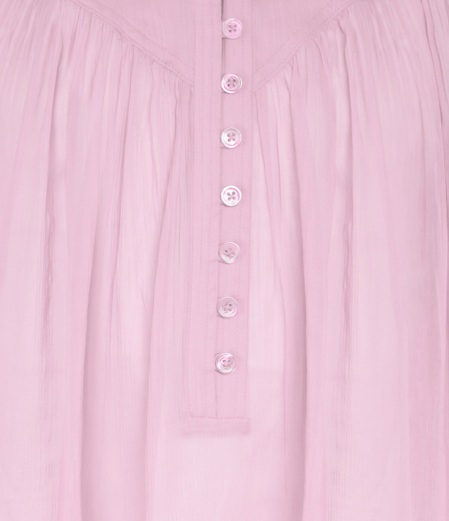 ISABEL MARANT - Top Kiledia Soie Coton Rose Clair