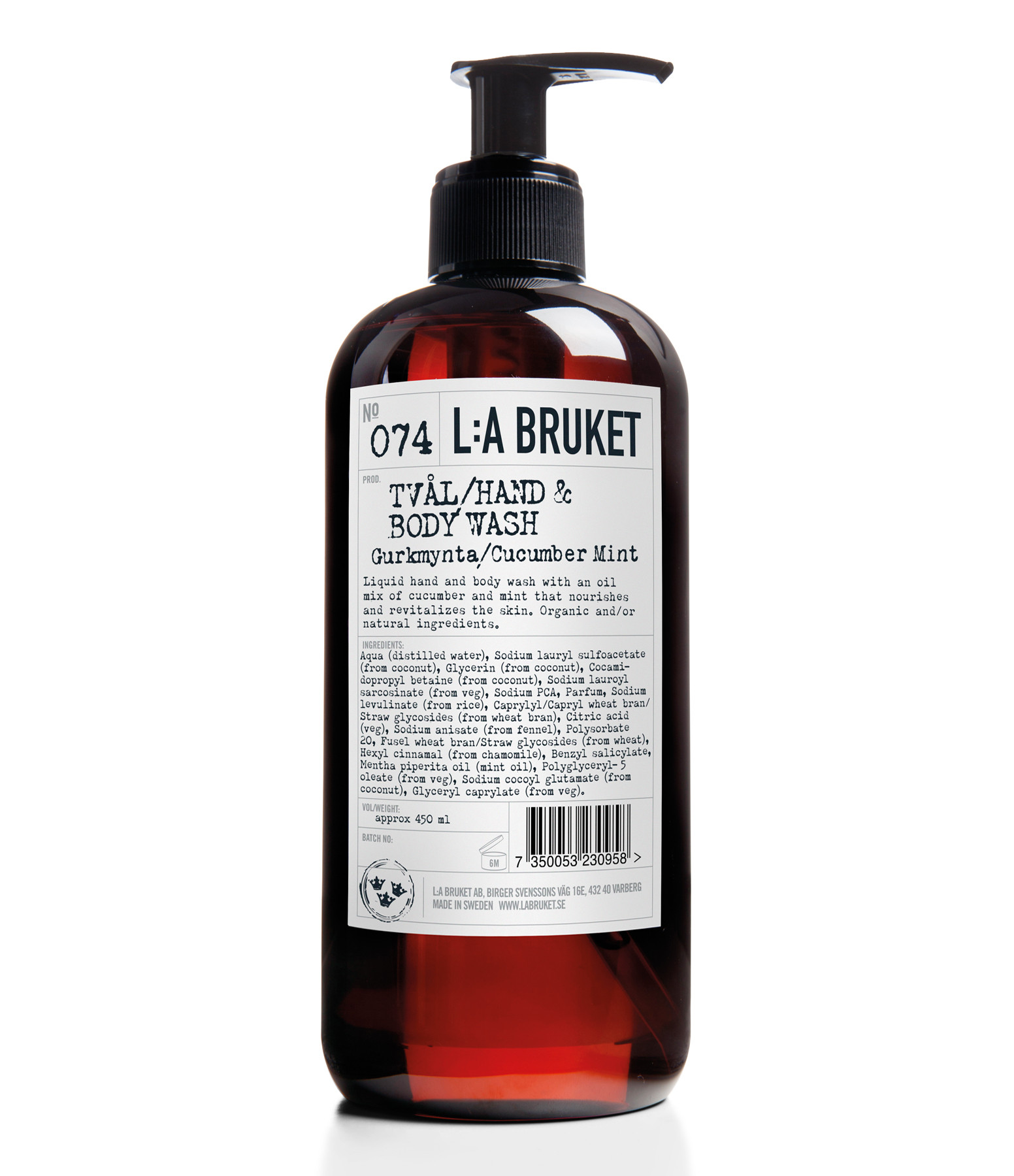 L:A BRUKET - Savon Liquide Concombre Menthe 450ml N°074