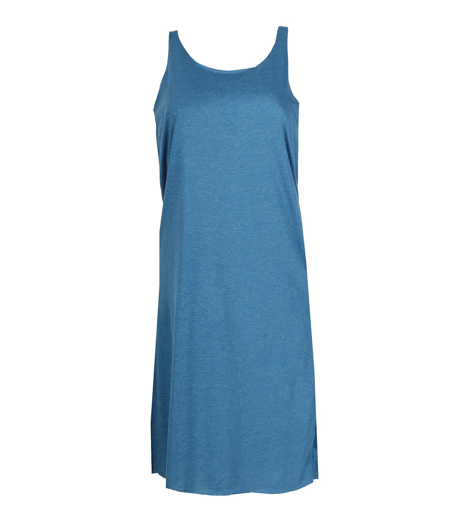Robe Bretelles Croisées Turquoise - LULLI BASIC
